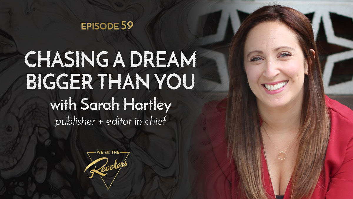 Episode 58 Artwork with Sarah Hartley | we are the REVELERS